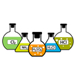 Chemicals vector