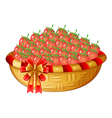 A basket of berries vector