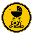 Baby on board sign vector