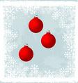 Christmas balls over a frozen window vector