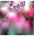 Background with disco ball eps10 vector