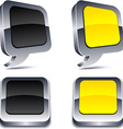3d realistic buttons vector