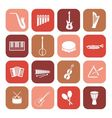 Music instruments icons vector