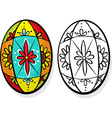 Colorful easter egg - coloring book vector