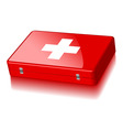 Suitcase first aid vector