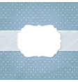 Frame on the background of crumpled paper vector