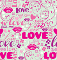 Seamless love pattern vector