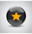 3d black sphere with star symbol vector