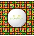Autumn background with vegetables and fruits vector