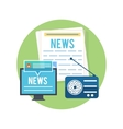 Mass media concept news radio newspaper vector