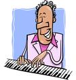 Jazz pianist cartoon vector