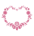 Russian style floral heart vector