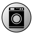 Washing machine button vector