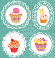 Lace cupcake vector