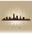 Cleveland ohio skyline city silhouette vector