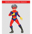 A red and blue superhero vector