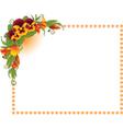 Ornate floral frame background vector