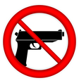 No gun sign vector