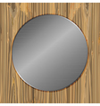 Circle on a planks vector