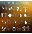 Flat design of ecology environment green clean vector