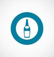 Beer bottle icon bold blue circle border vector