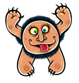 Foolish cartoon monster vector
