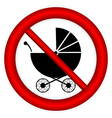 No pram sign vector
