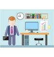 Businessman standing in office vector