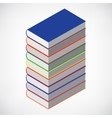Book stack tower vector