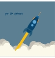Rocket go to space vector