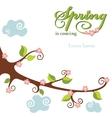 Spring flowering branch background vector