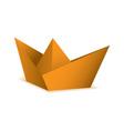 Orange symbolic paper origami boat concept vector