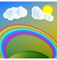 Collage rainbow sun clouds vector
