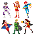 Six superheroes vector