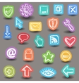 Set of internet web icons vector