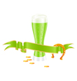 Shamrock beer vector
