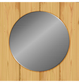 Circle on a wood vector