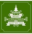 Christmas retro typographic background vector