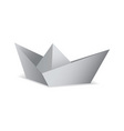 White paper boat folded origami concept vector
