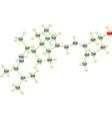 Vitamin d molecule vector