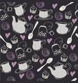 Seamless sweet tea pattern vector