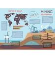 Mining infographics set vector