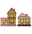 Medieval house and shop vector