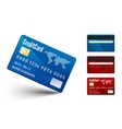 Realistic credit card two sides vector