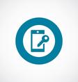 Smartphone lock icon bold blue circle border vector