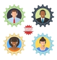 Four technical support flat vector