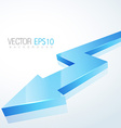 3d blue arrow in isolated background vector