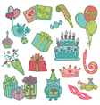Hand drawn birthday celebrations vector