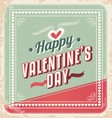 Valentines day retro card design vector