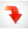 Abstract red 3d arrow icon vector